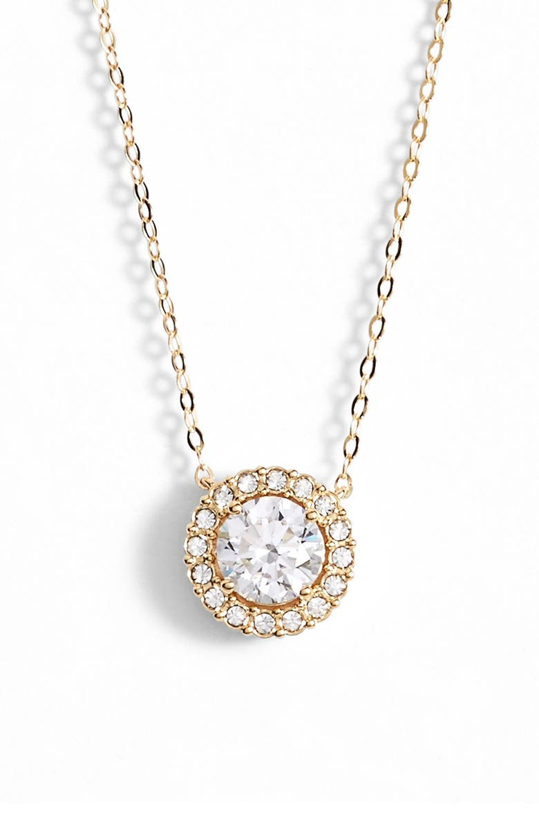 NADRI Halo Pendant Necklace, Main, color, 710
