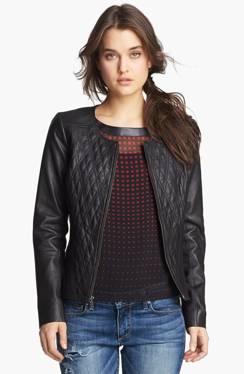 HINGE <sup>®</sup> Quilted Leather Jacket, Main, color, 020