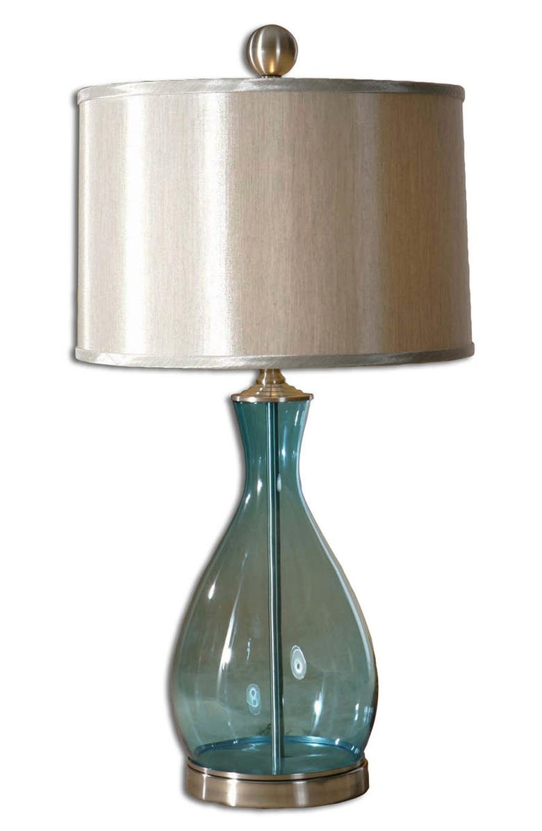 UTTERMOST Meena Blue Blown Glass Table Lamp, Main, color, 400