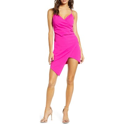 Love, Nickie Lew Asymmetrical Hem Dress, Pink