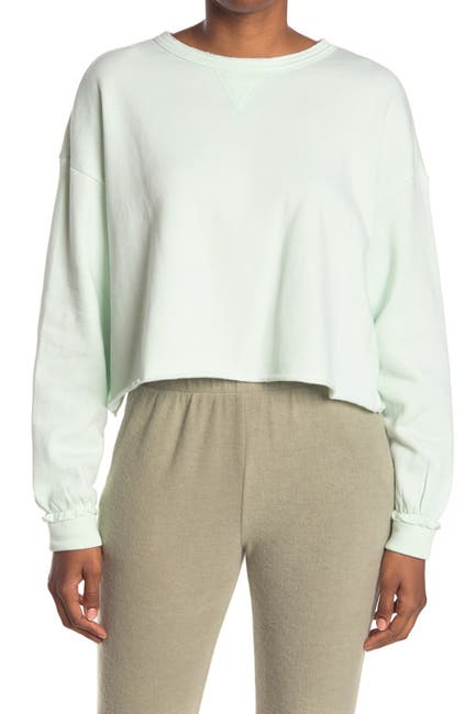 Image of Bottoms Out Cropped Lounge Sweatshirt