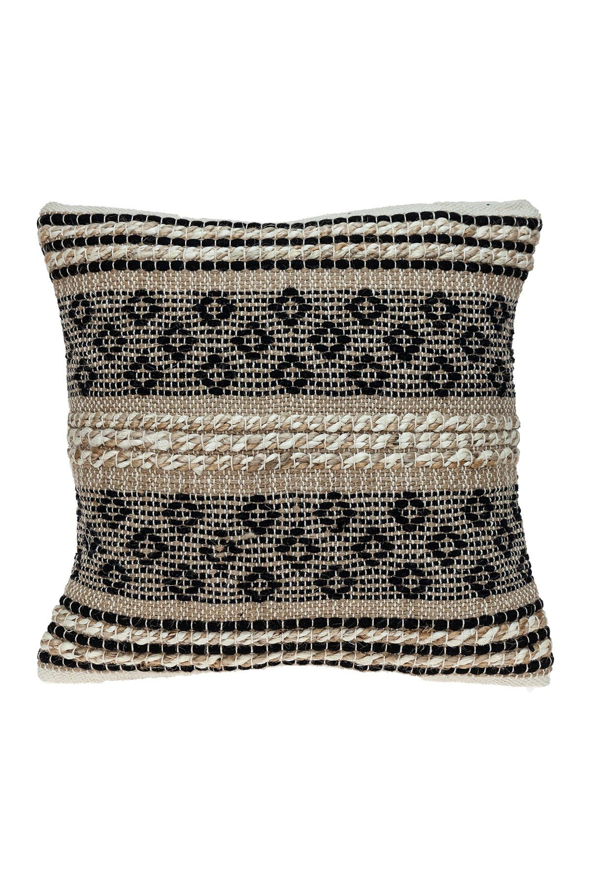 Image of Parkland Collection Nate Transitional Brown Throw Pillow