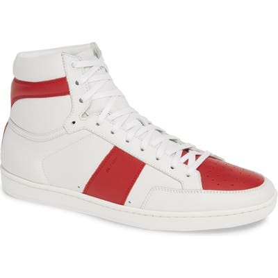 Saint Laurent Sl/10H Signature Court Classic High Top Sneaker, US / 47EU - White