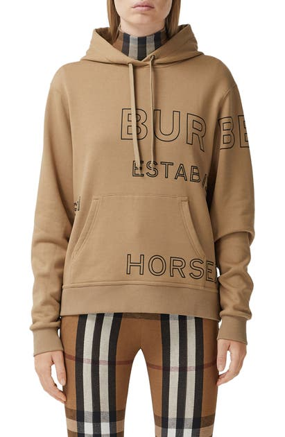 Burberry POULTER HORSEFERRY PRINT COTTON HOODIE