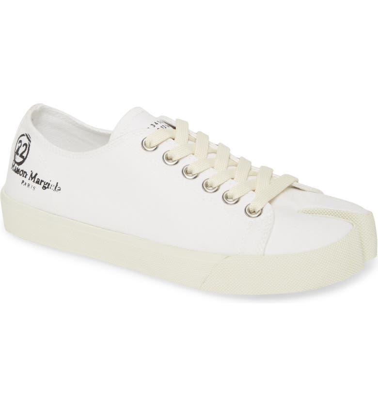 MAISON MARGIELA Tabi Low Top Sneaker, Main, color, WHITE