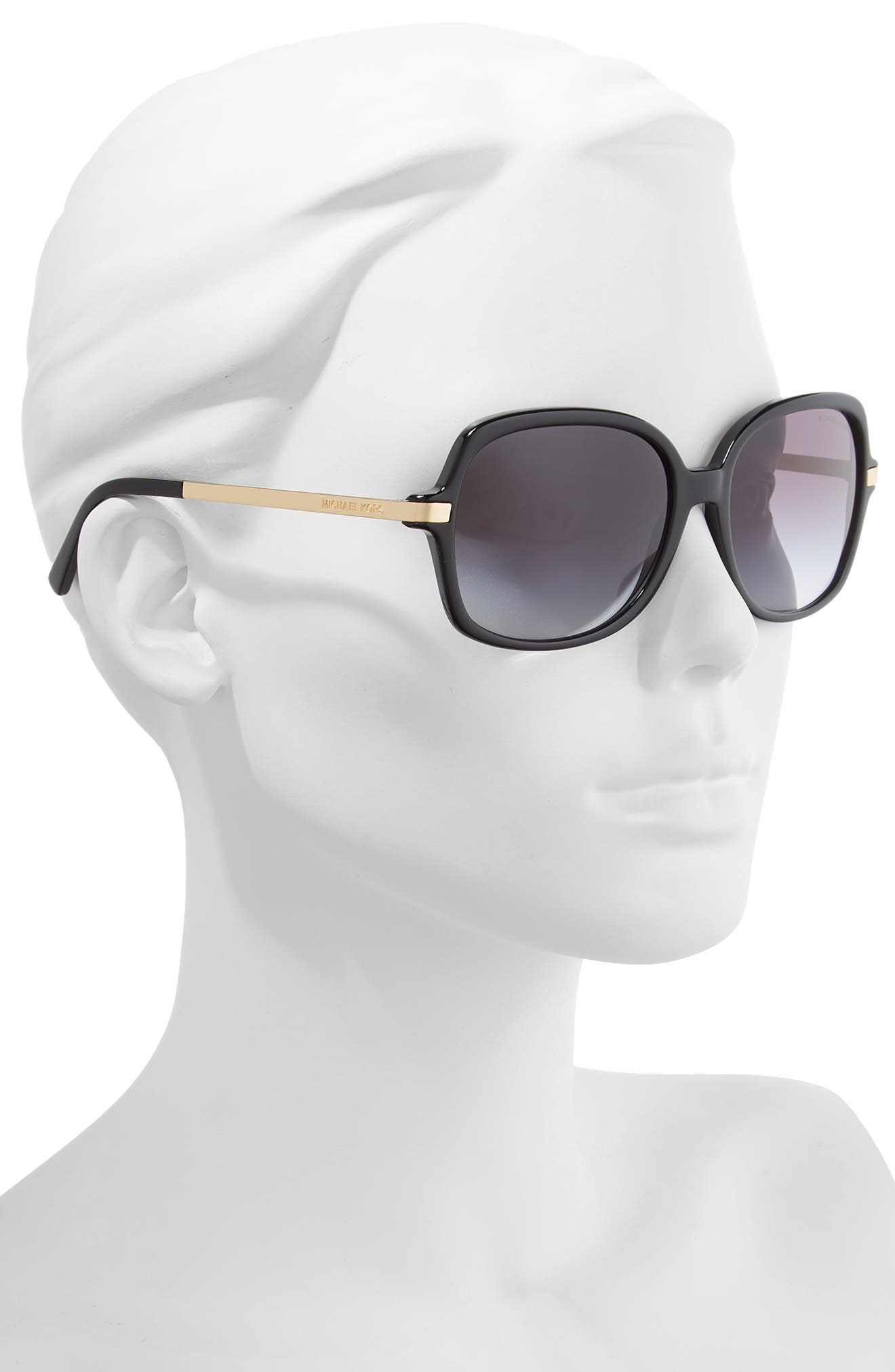 ,                             57mm Gradient Square Sunglasses,                             Alternate thumbnail 2, color,                             001