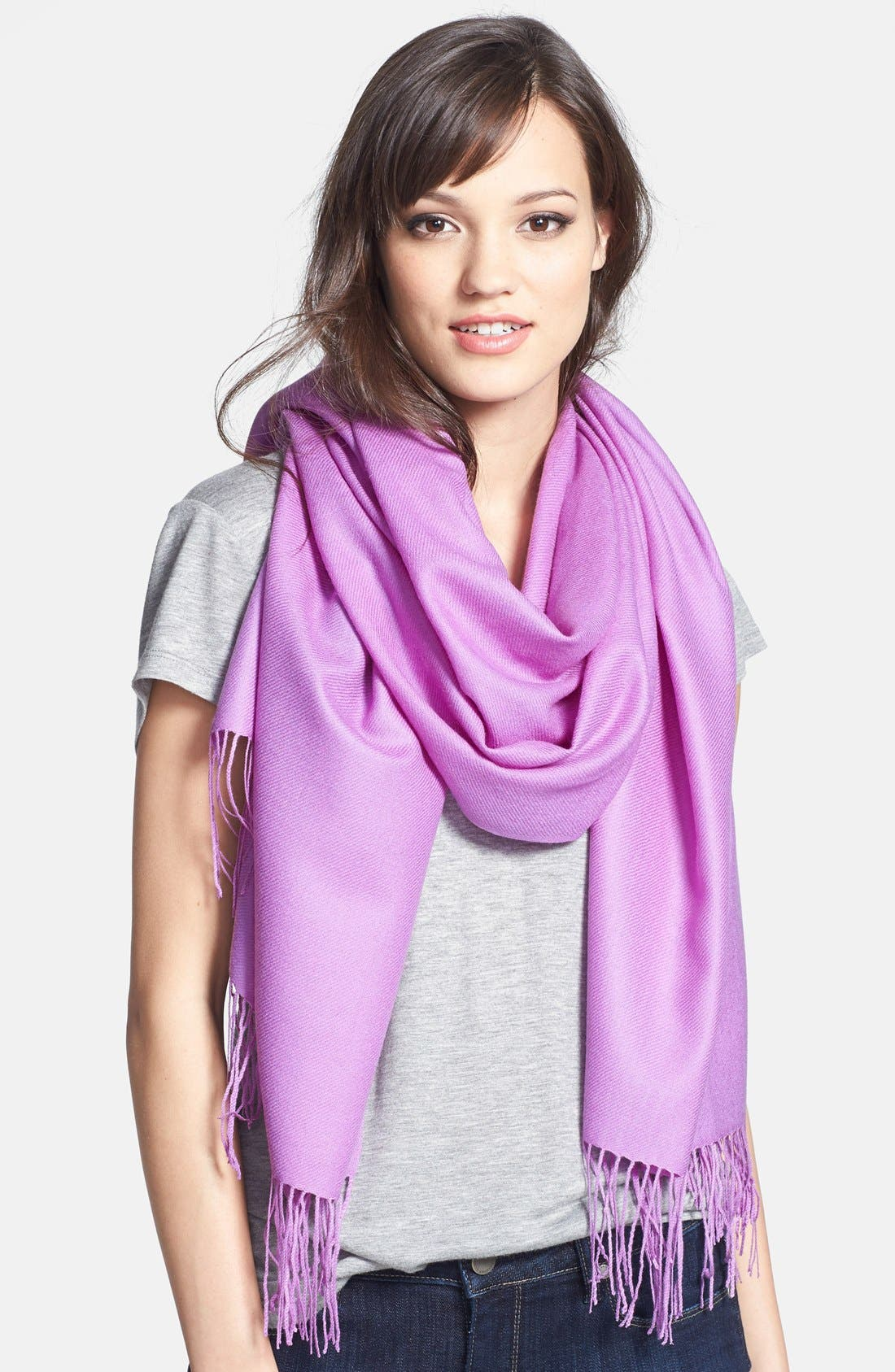 ,                             Tissue Weight Wool & Cashmere Wrap,                             Main thumbnail 136, color,                             511