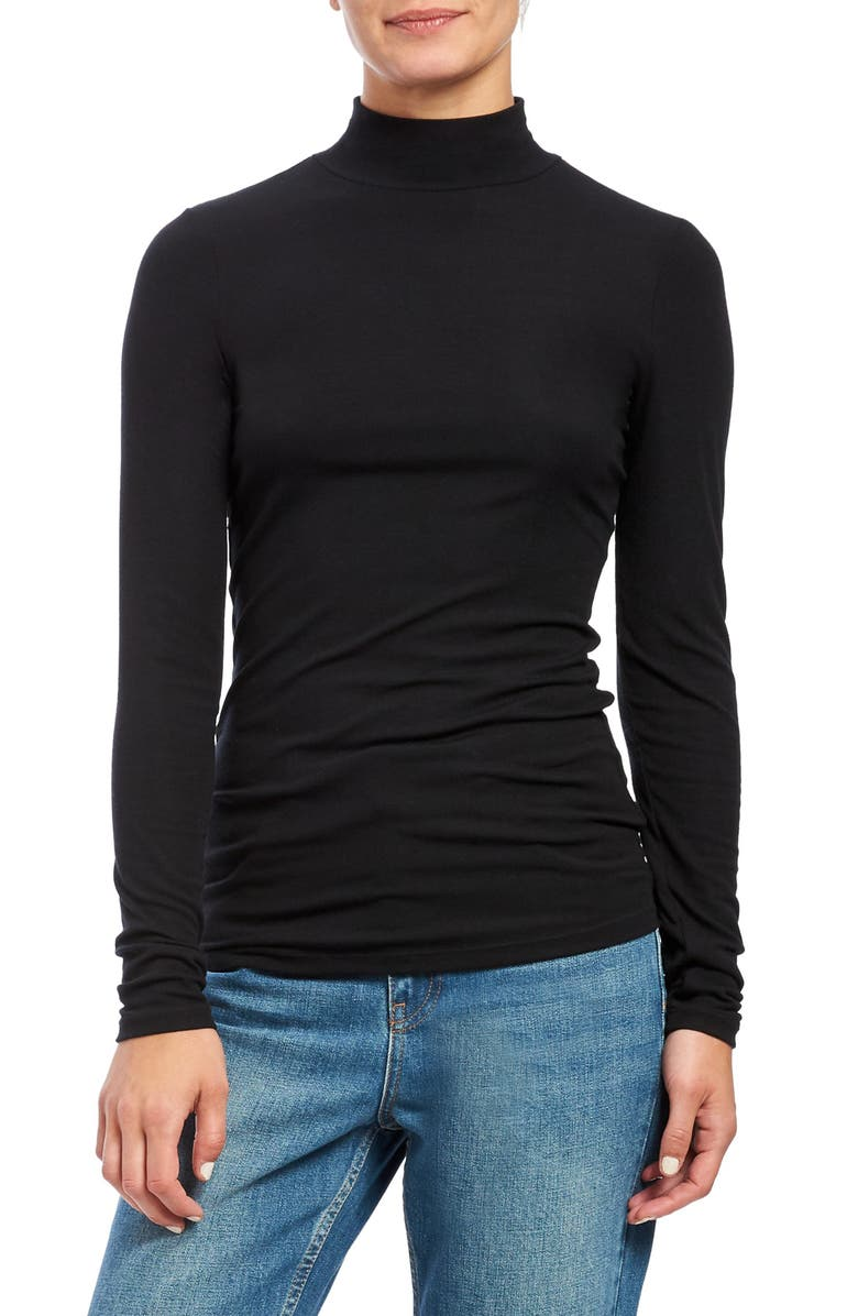THEORY Turtleneck Top, Main, color, BLACK