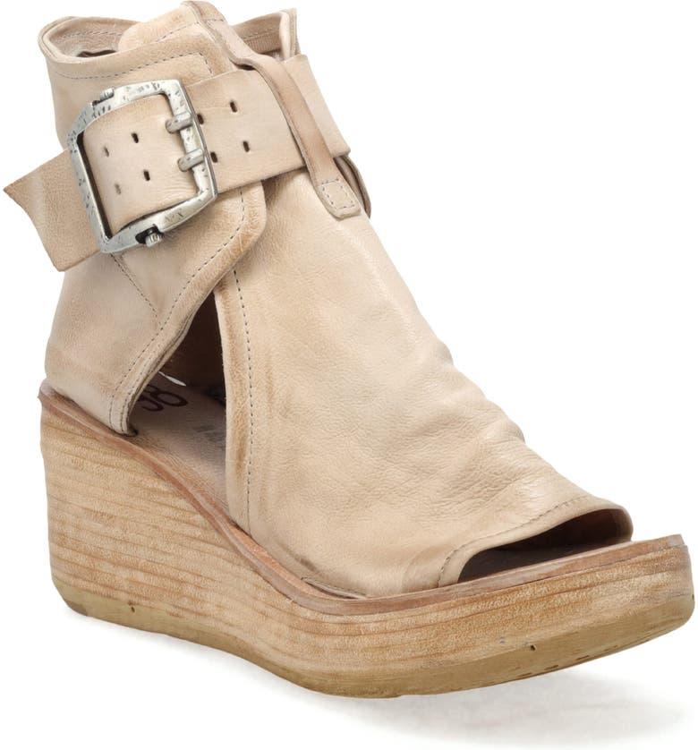 A.S.98 Naya Wedge Sandal, Main, color, BONE