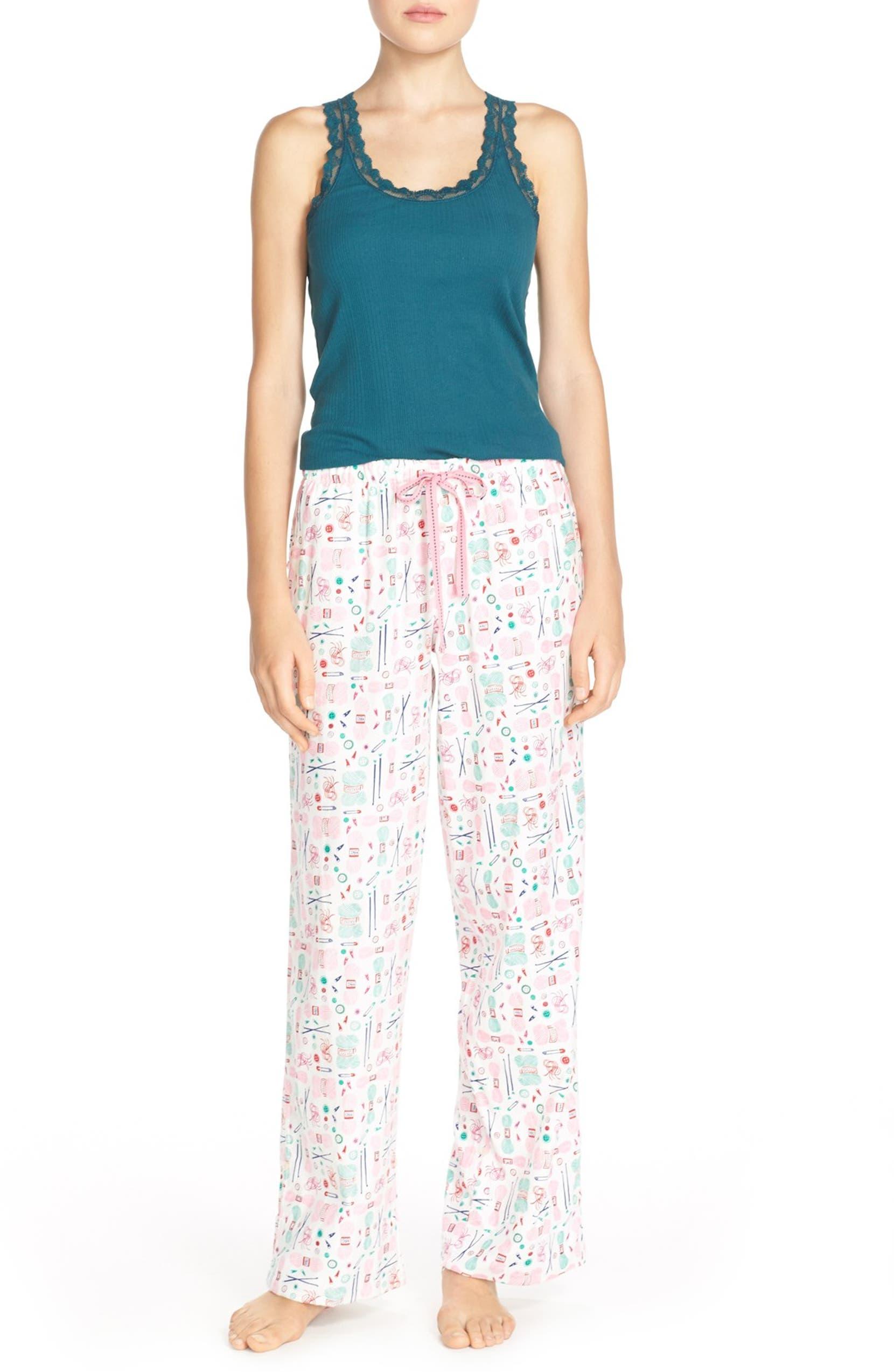 9ac6f6d60f80 Jane & Bleecker New York Print Flannel Pajama Pants | Nordstrom