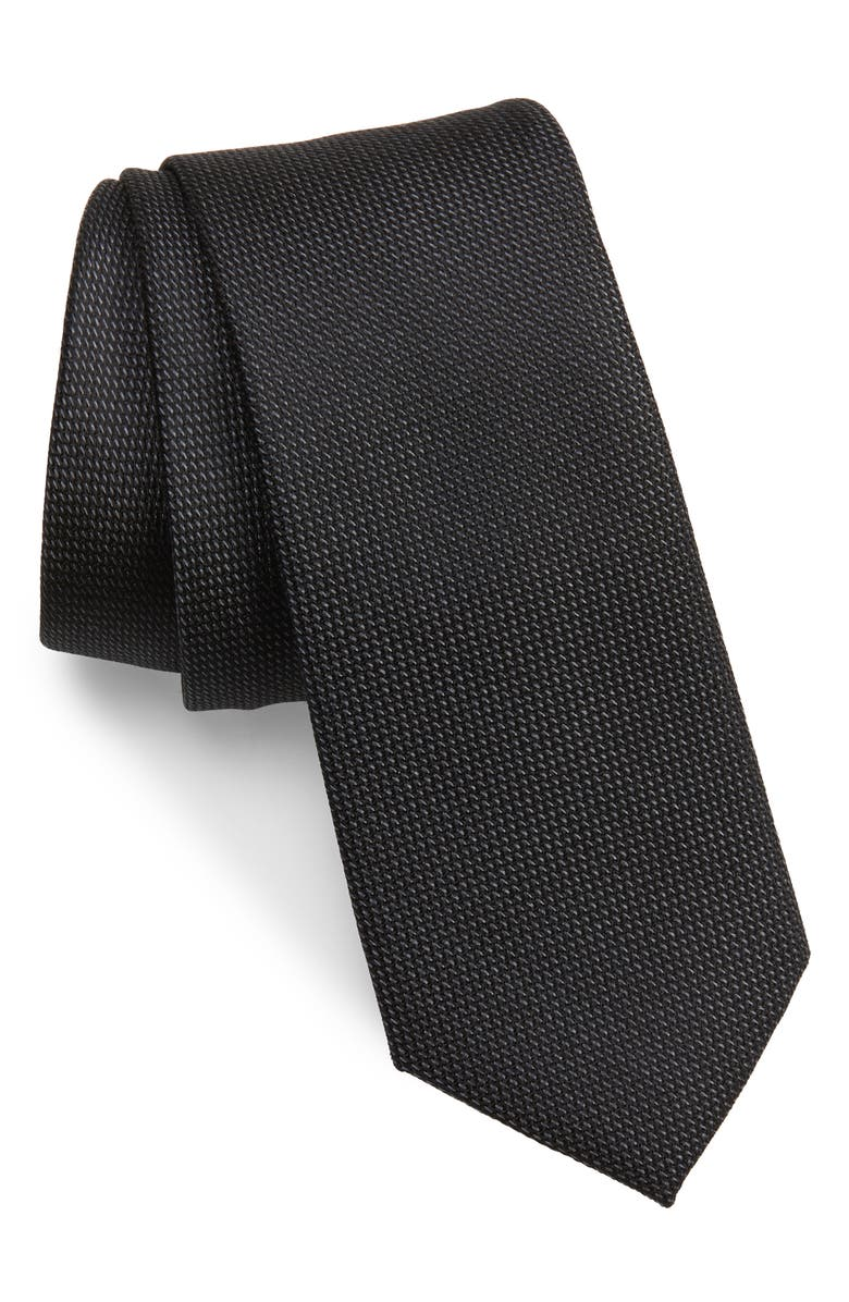 NORDSTROM MEN'S SHOP Joule Silk Tie, Main, color, BLACK