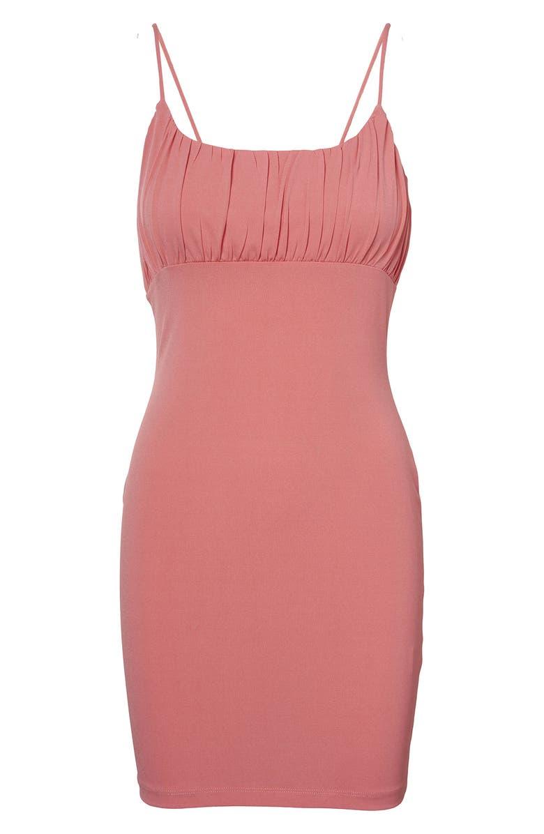 VERO MODA Frankie Pleated Bodycon Dress, Main, color, TEA ROSE