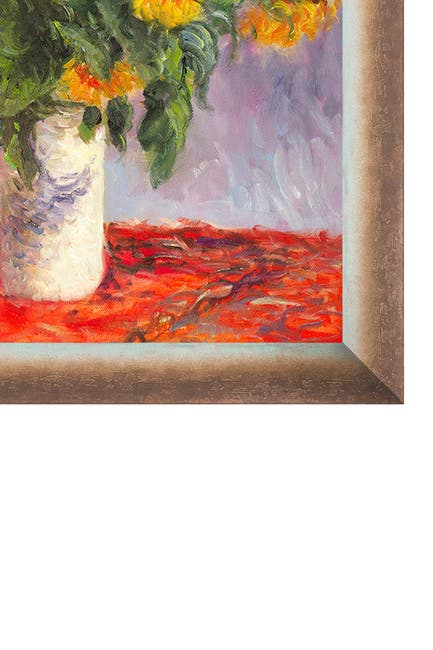Image of Overstock Art Sunflowers - Framed Oil Reproduction of an Original Painting by Claude Monet