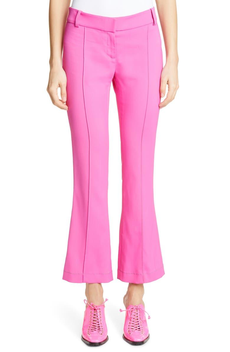 SIES MARJAN Crop Flare Pants, Main, color, FLUO PINK