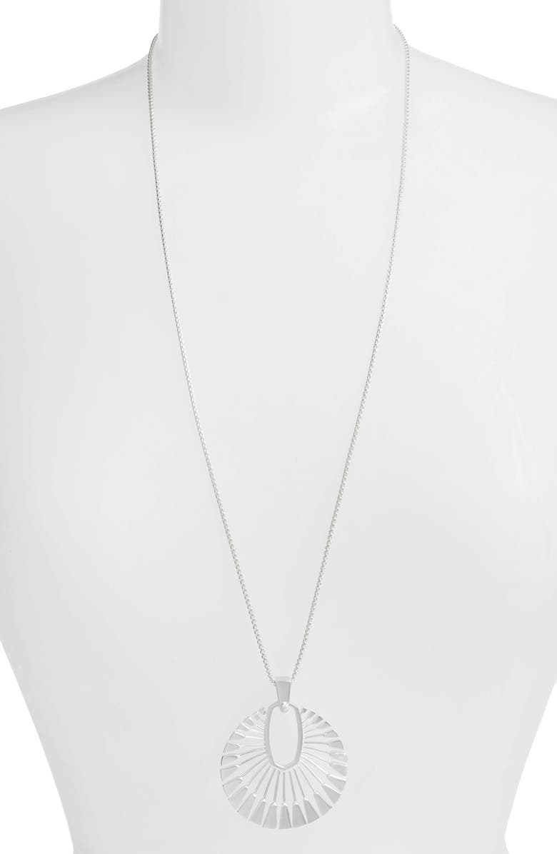 KENDRA SCOTT Deanne Pendant Necklace, Main, color, SILVER