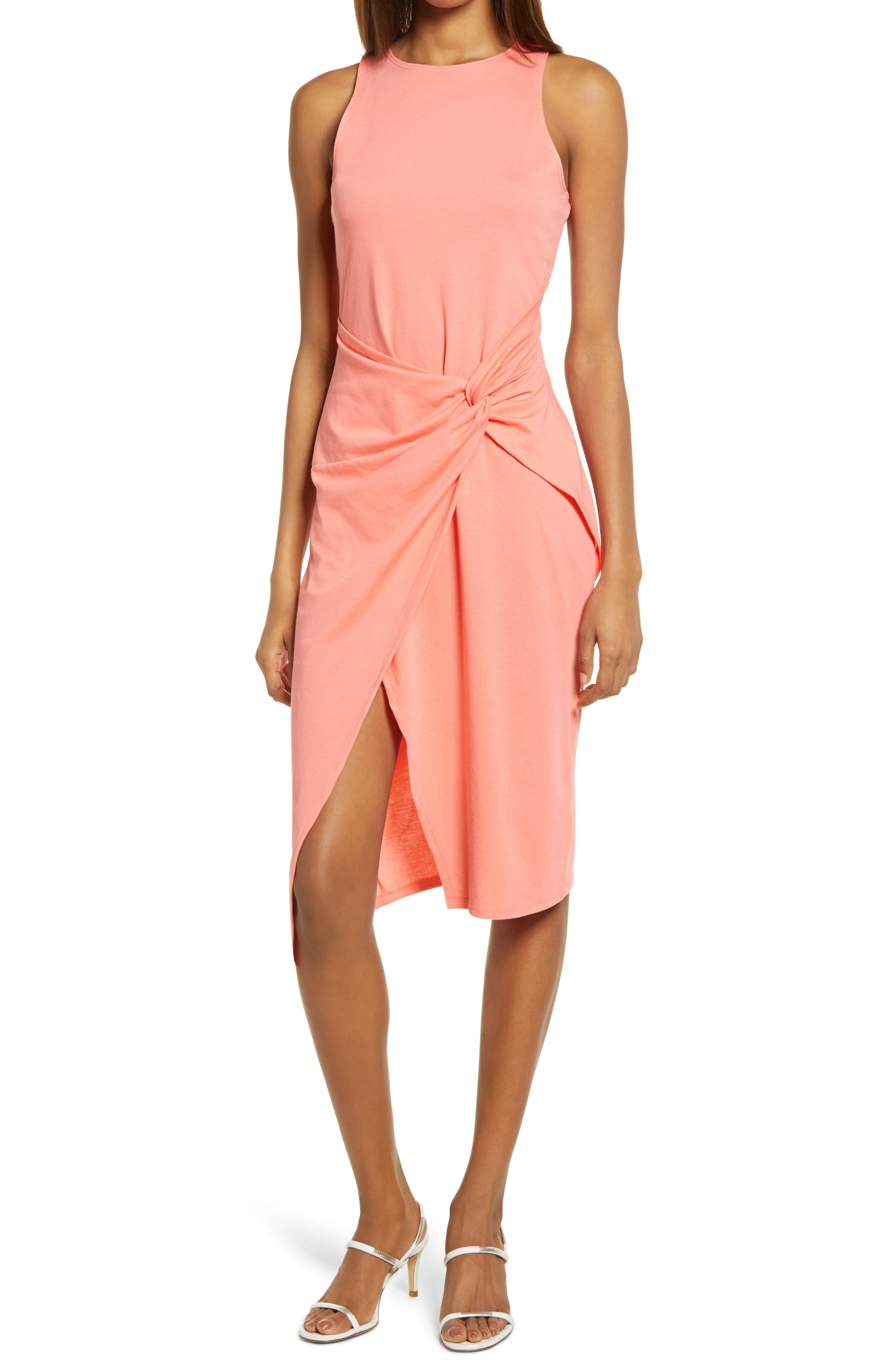 Sleeveless Twist Detail Dress