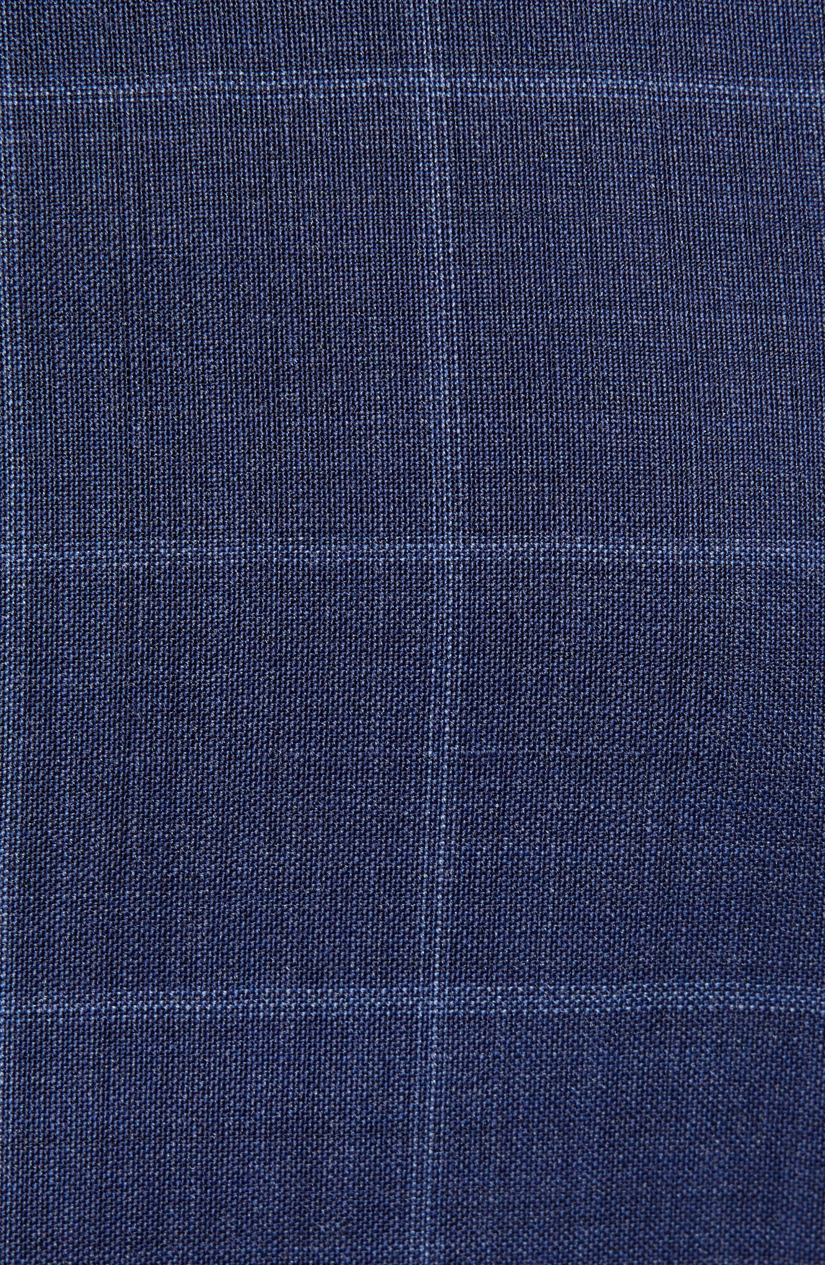 ,                             Jile Trim Fit Windowpane Wool Blazer,                             Alternate thumbnail 6, color,                             SOFT BLUE