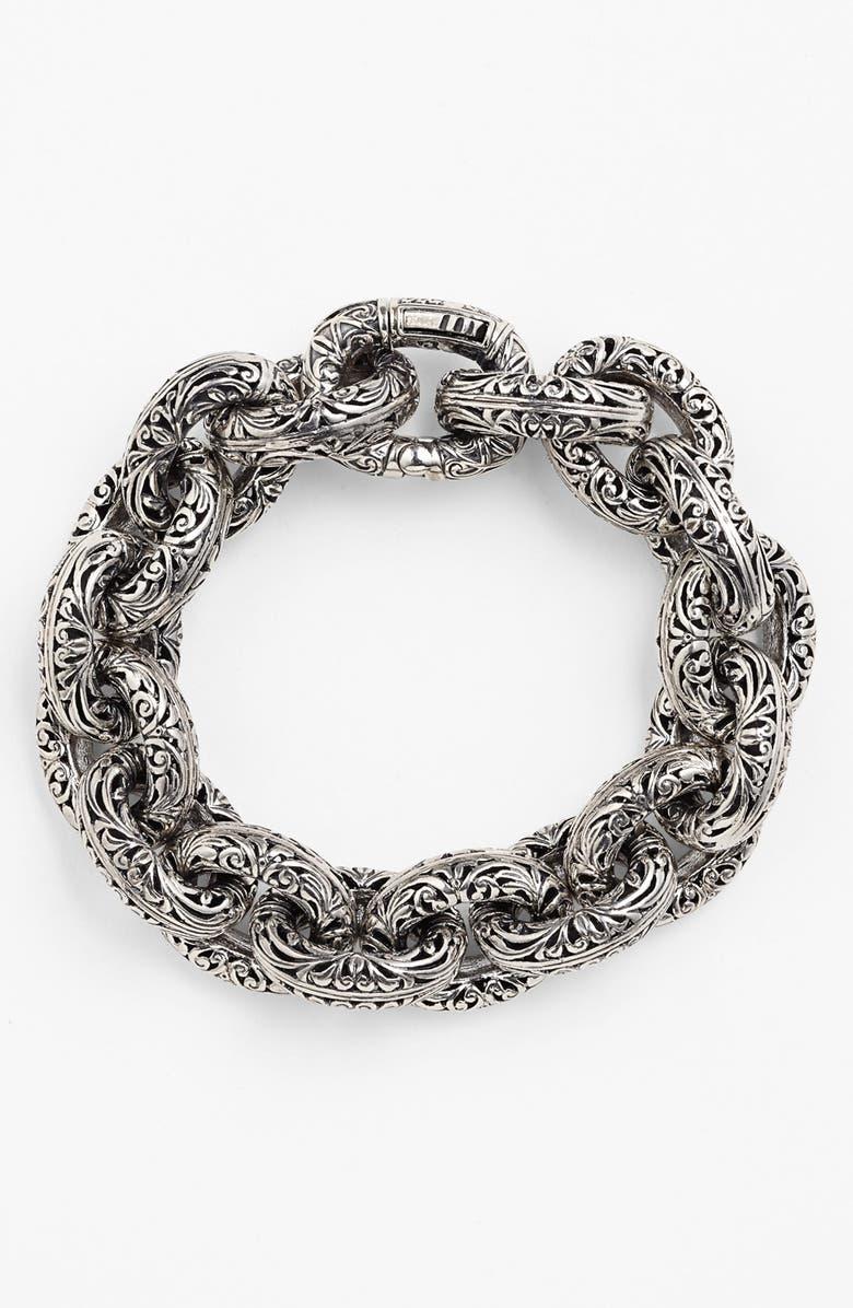 KONSTANTINO 'Classics' Link Bracelet, Main, color, SILVER