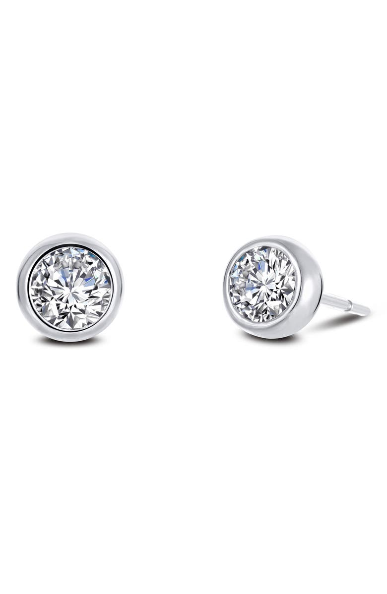 LAFONN Simulated Diamond Stud Earrings, Main, color, SILVER/ CLEAR