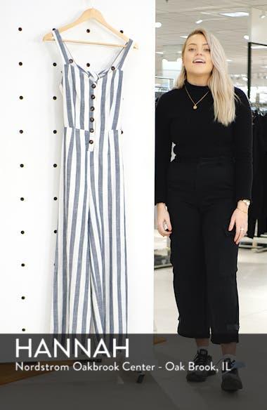 Stripe Cotton & Linen Jumpsuit, sales video thumbnail