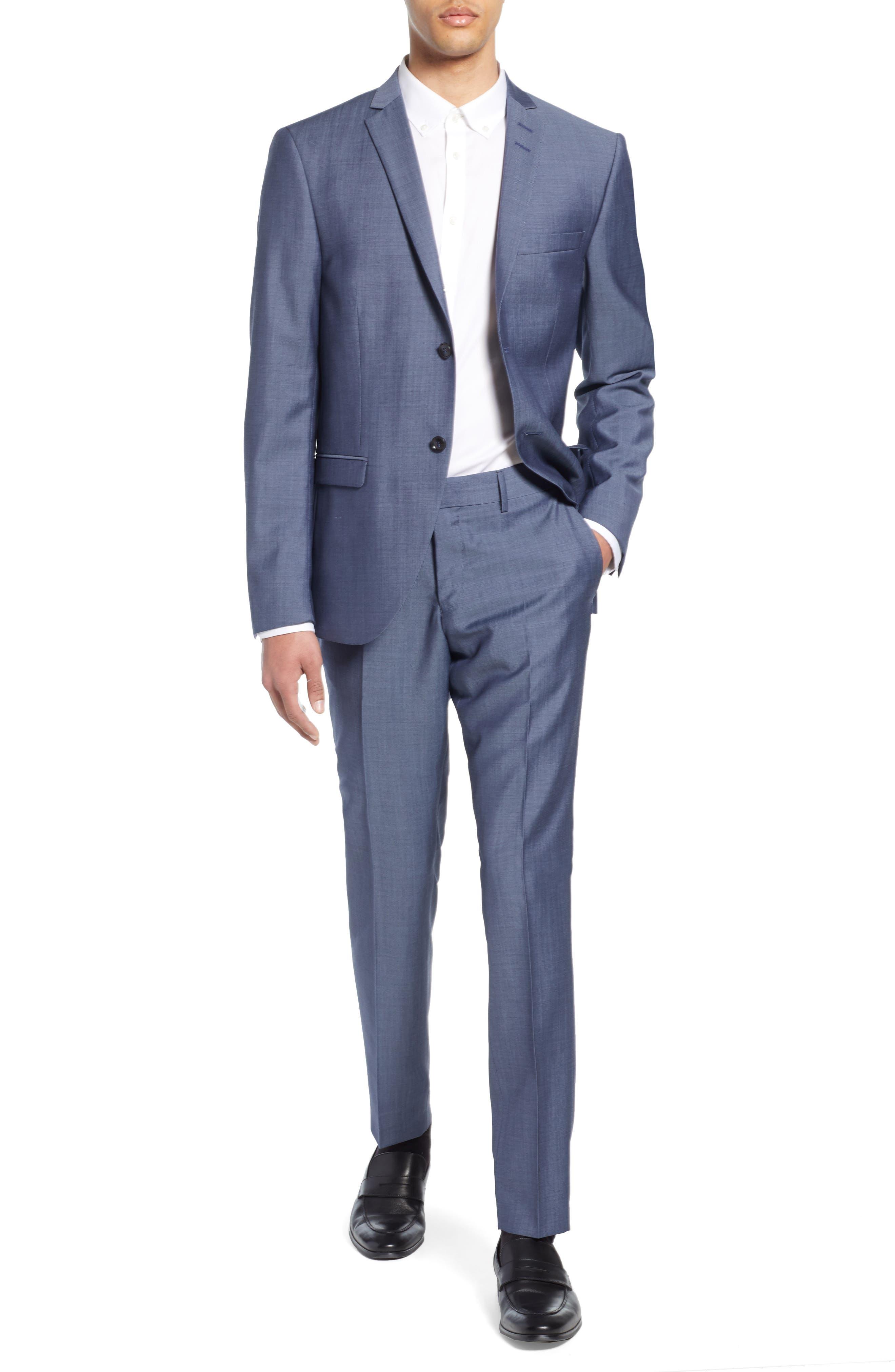 ,                             Jile Trim Fit Solid Wool Blazer,                             Alternate thumbnail 8, color,                             SOFT BLUE