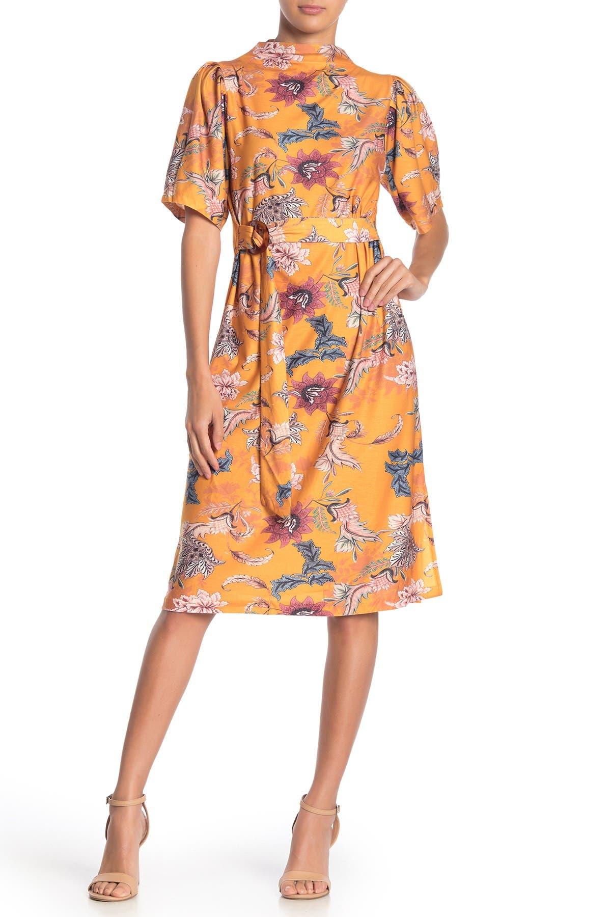 Image of I. MADELINE Printed Belt Dress