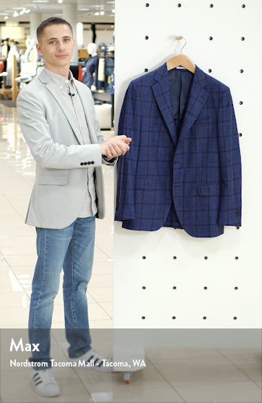 Hyperlight Classic Fit Windowpane Wool Sport Coat, sales video thumbnail