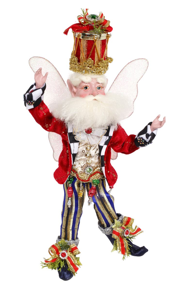 MARK ROBERTS Drummer Boy Fairy, Main, color, RED SMALL