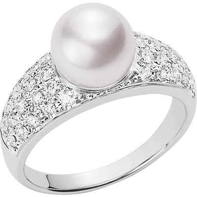 Mikimoto Japan Collections Pearl & Diamond Ring