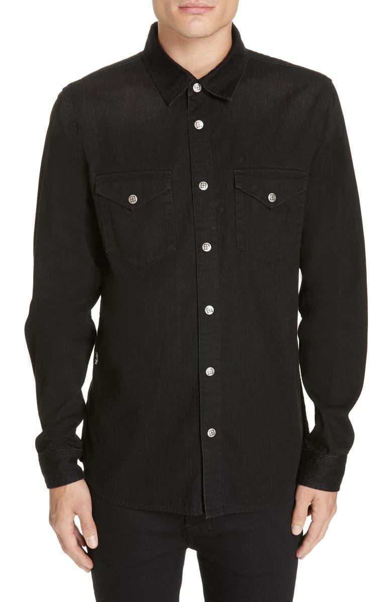 KSUBI De Nimes Woven Shirt, Main, color, 001