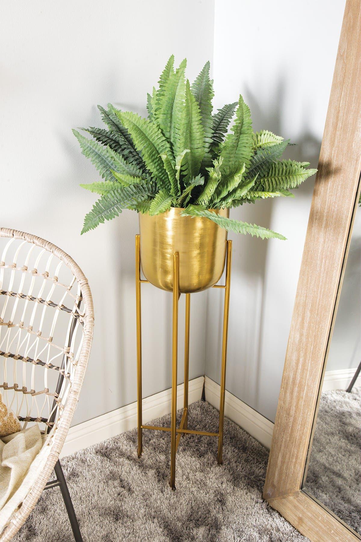 Image of COSMO BY COSMOPOLITAN Gold Metal Floor Planter - Set of 2