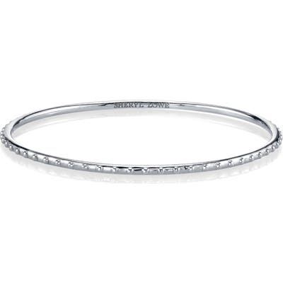 Sheryl Lowe Beaded Sterling Silver Bangle Bracelet
