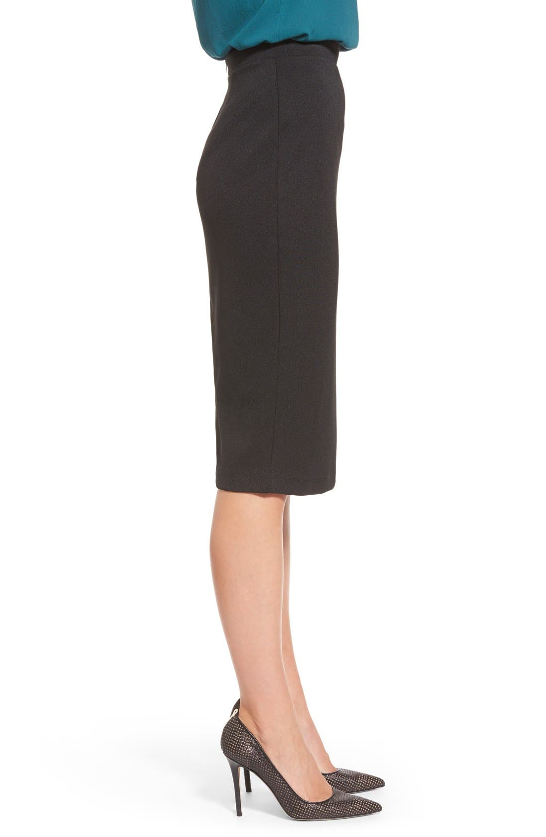,                             Zip Back Knit Pencil Skirt,                             Alternate thumbnail 2, color,                             001