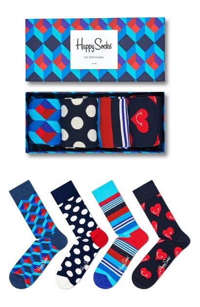 Happy Socks Socks NAVY GIFT BOX 4-PACK SOCKS