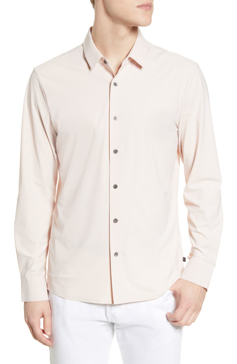 7 DIAMONDS Young Americans Slim Fit Button-Up Performance Shirt, Main, color, DUSTY ROSE