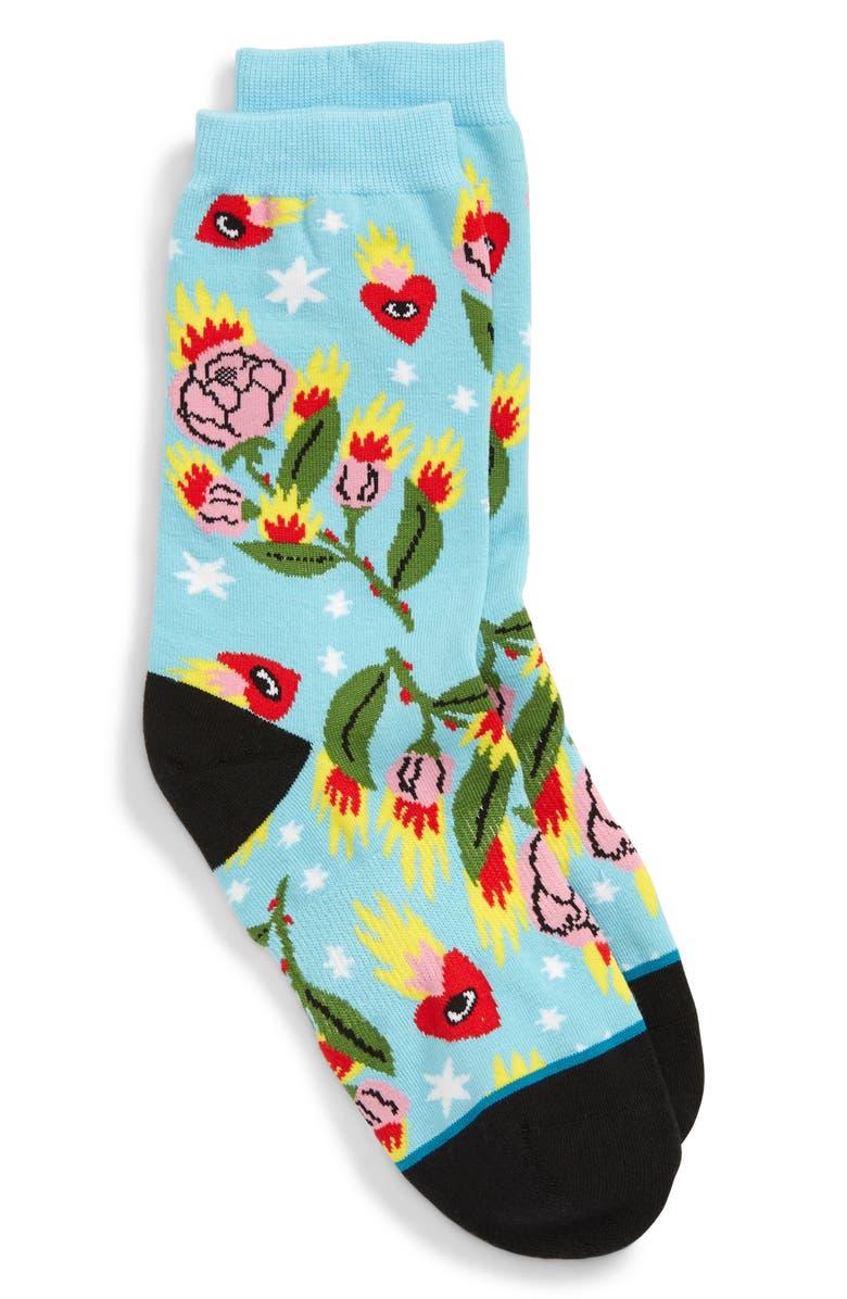STANCE Cavolo Floral Socks, Main, color, CAP