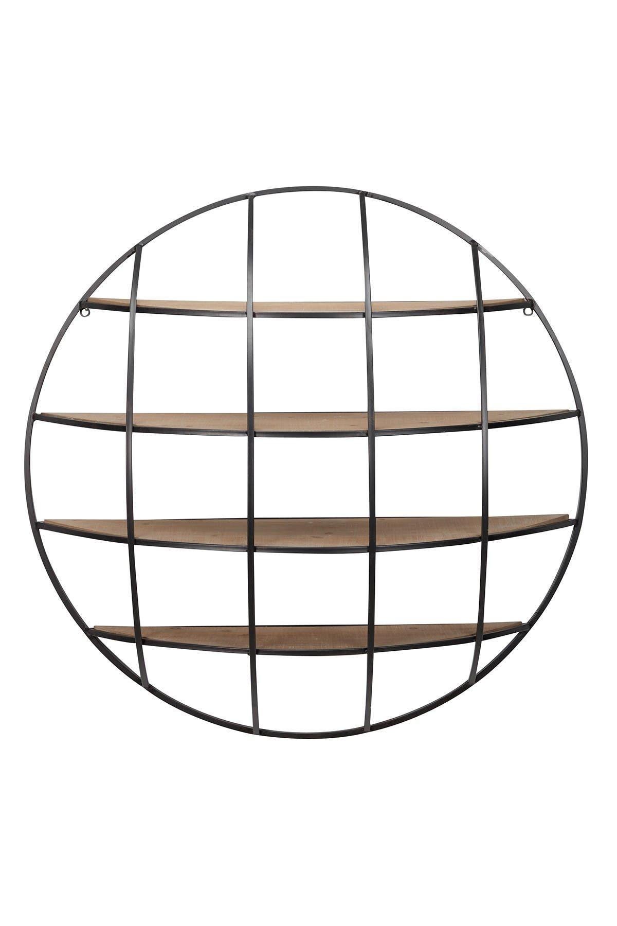 Image of Willow Row Metal & Wood Wall Shelf
