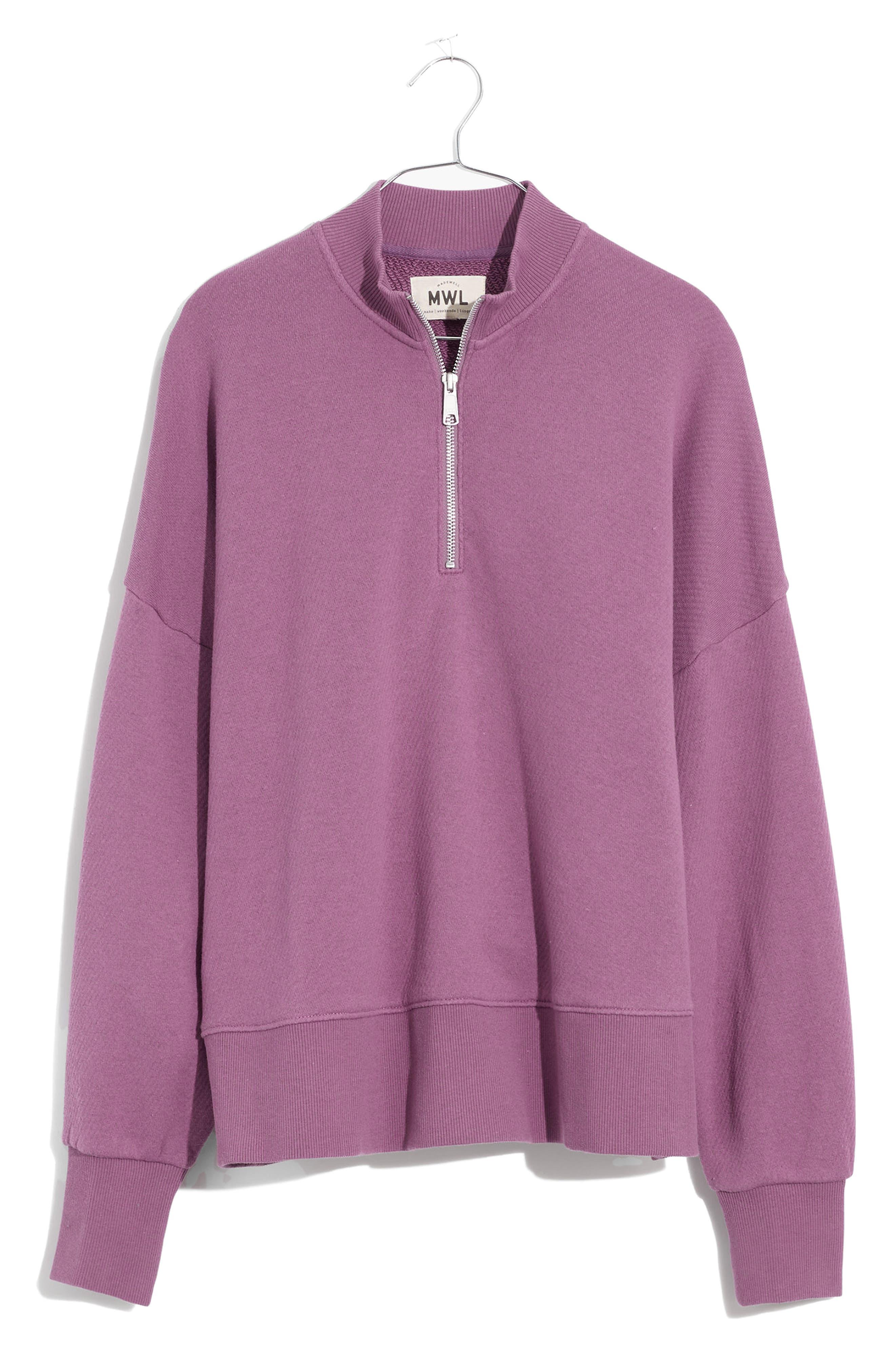 Airyterry Half-Zip Tunic Sweatshirt