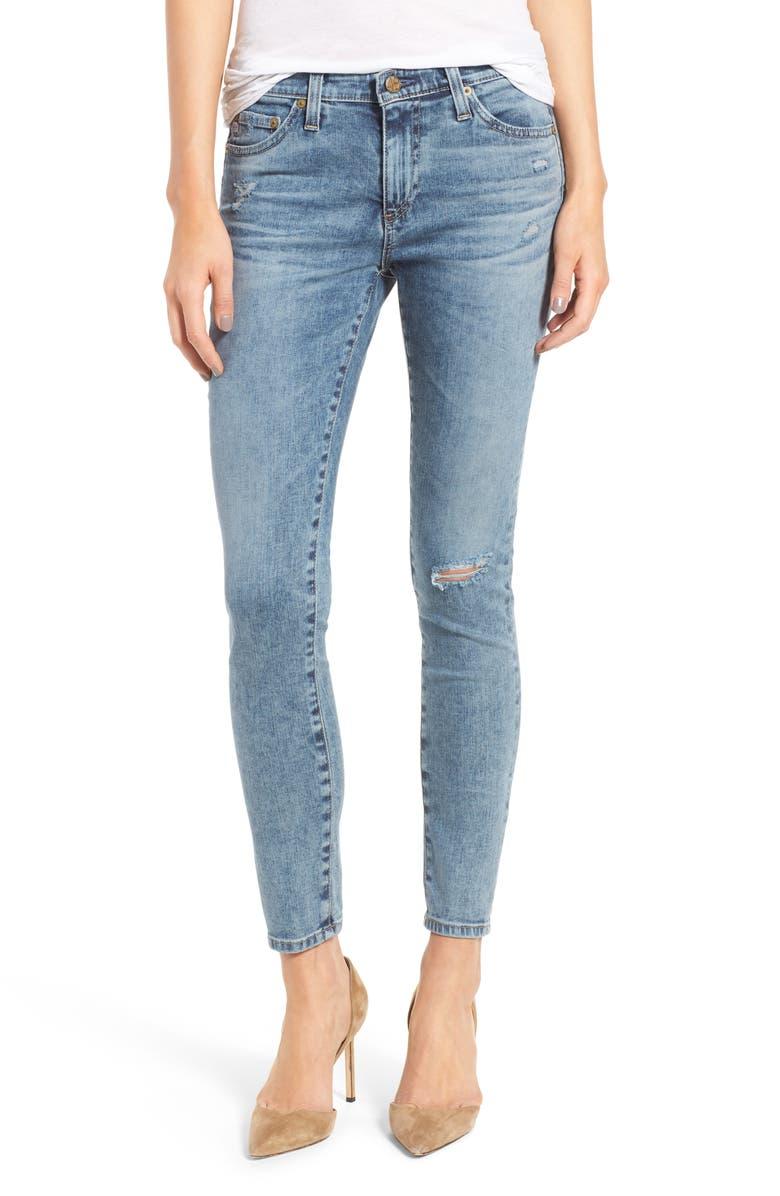 AG 'Middi' Ankle Skinny Jeans, Main, color, 402