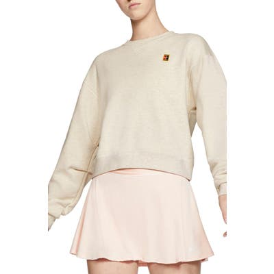 Nike Court Heritage Crop Tennis Sweatshirt
