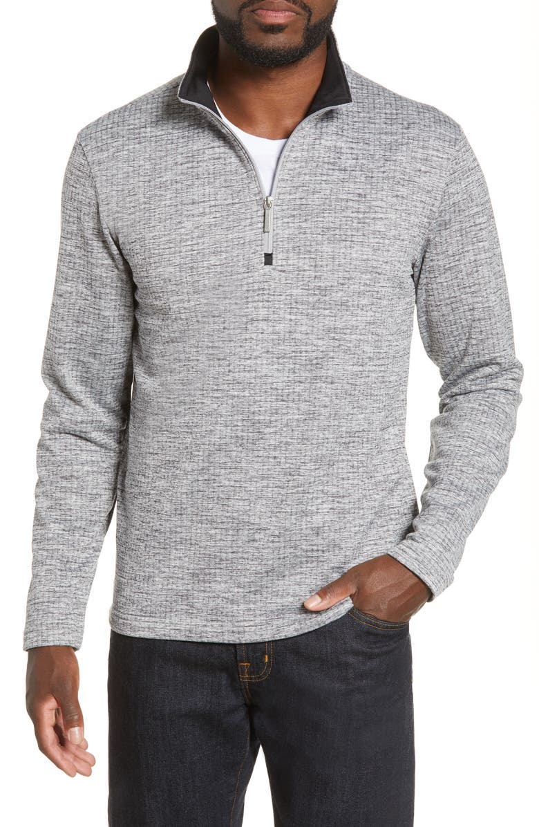 MOVE PERFORMANCE APPAREL Quarter Zip Fleece Top, Main, color, GREY