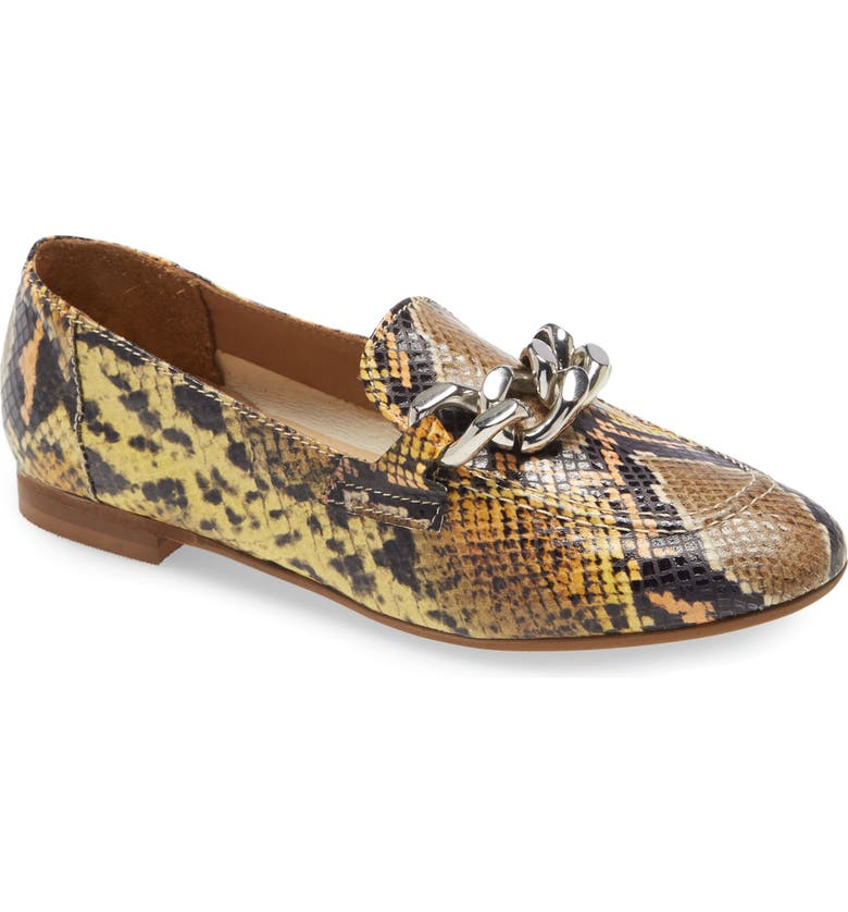 DONALD PLINER Balton Loafer, Main, color, LEMON SNAKE PRINT LEATHER