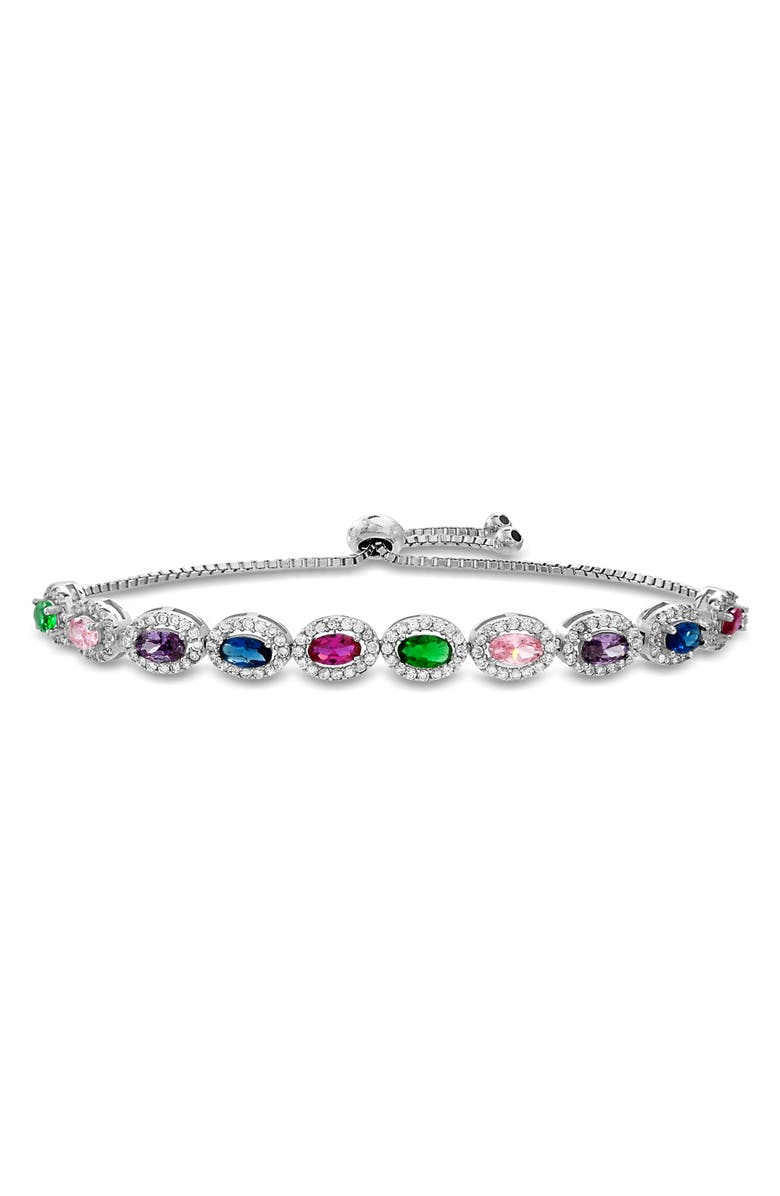LESA MICHELE Lesa Michelle Sterling Silver Bracelet, Main, color, SILVER