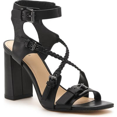 Botkier Rory Strappy Buckle Sandal, Black