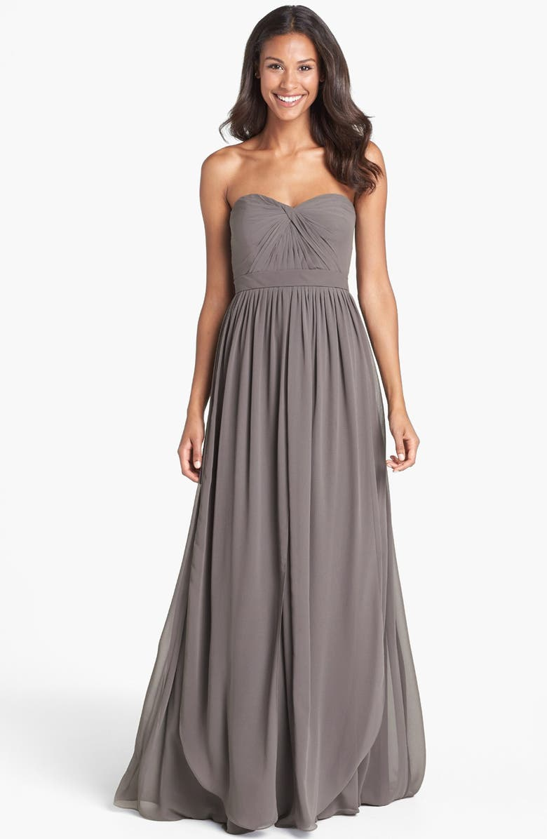 JENNY YOO Aidan Convertible Strapless Chiffon Gown, Main, color, 020