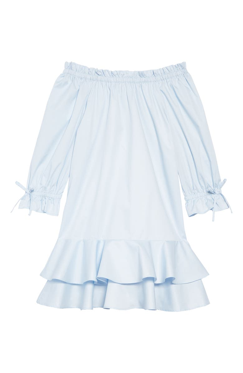 HABITUAL Kids Daisy Tiered Ruffle Hem Dress, Main, color, LIGHT BLUE