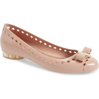 Salvatore Ferragamo Jelly Ballerina Flat - Pink
