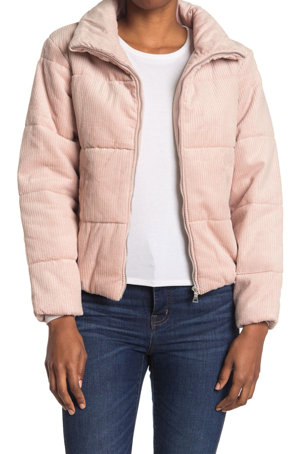 Image of Sebby Corduroy Zip Puffer Jacket