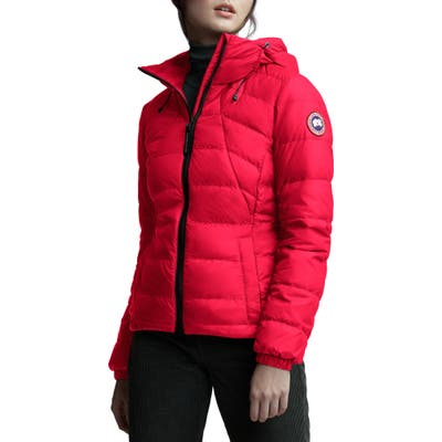 Canada Goose Abbott Packable Hooded 750 Fill Power Down Jacket, Red