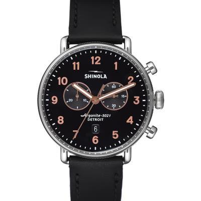 Shinola The Canfield Chrono Leather Strap Watch, 4m
